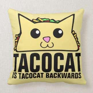 Tacocat Backwards Throw Pillow