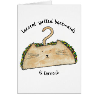 Tacocat Greeting Card
