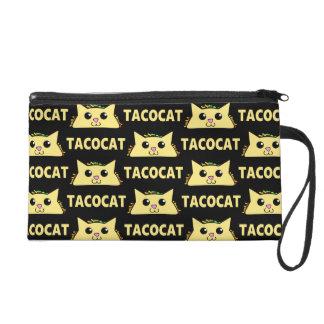 Tacocat Patterned Wristlet Clutch