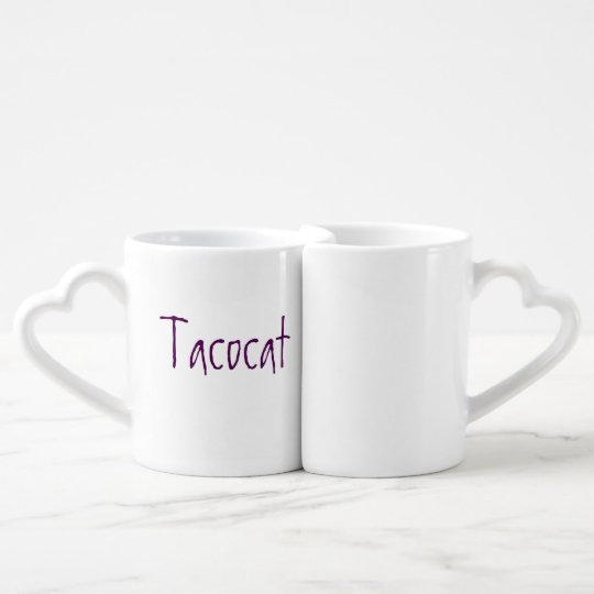 tacocat & shell couple's mug set