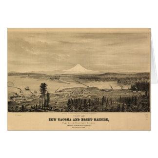 Tacoma and Mount Rainer, Washington (1878) Card