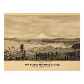 Tacoma and Mount Rainer, Washington (1878) Postcard
