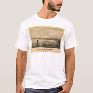 Tacoma and Mount Rainer, Washington (1878) T-Shirt
