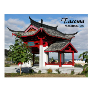 Tacoma Chinese Park Travel Postcard