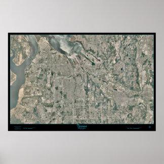 Tacoma Metro Area, Washington satellite poster