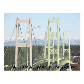 Tacoma Narrows Bridges Travel Postcard
