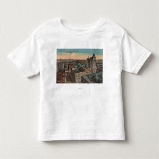 Tacoma, WA - Bird's Eye View of Downtown Toddler T-shirt