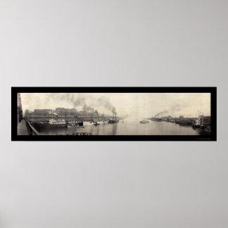 Tacoma WA Ships Photo 1908 Poster