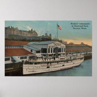 Tacoma, WA - View of Municipal Poster