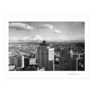 Tacoma, WA View of Rainier from Medical Arts Postcard