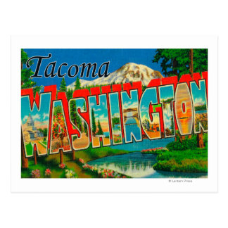 Tacoma, Washington - Large Letter Scenes Postcard
