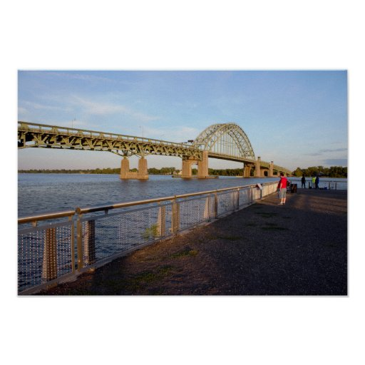 Tacony-Palmyra Bridge by Dock Poster