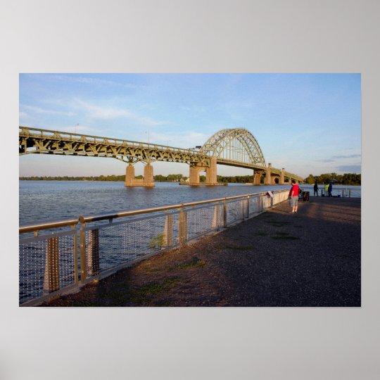 Tacony-Palmyra Bridge by Dock Poster