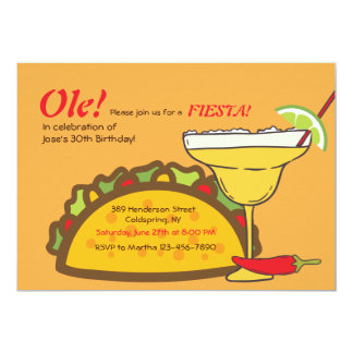 Tacos and Margaritas Invitation