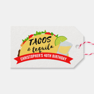 Tacos and Tequila Birthday Party Gift Tags