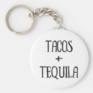 Tacos and Tequila Party Girl Keychain
