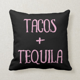 Tacos and Tequila Party Girl Throw Pillow