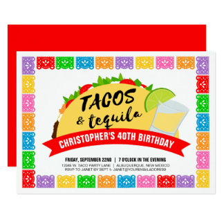 Tacos and Tequila Party Invitation