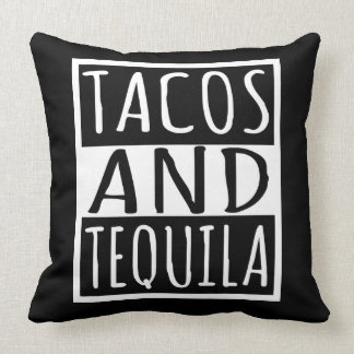 Tacos And Tequila Throw Pillow