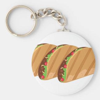 Tacos Basic Round Button Keychain