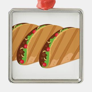 Tacos Metal Ornament