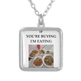 TACOS SILVER PLATED NECKLACE