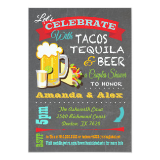 Tacos, Tequila and Beer Fiesta Couples Shower Card