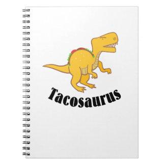 Tacosaurus Dinosaurs T-Rex Taco Funny Gift Spiral Notebook