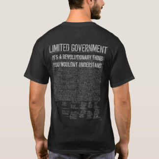 Tactical Limited Government Independence Day shirt
