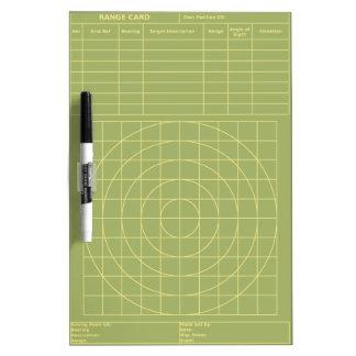 Tactical Range Card Dry-Erase Whiteboards