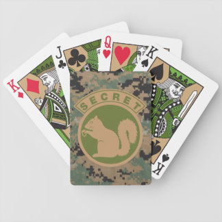 Tactical Secret Squirrel Bicycle Playing Cards
