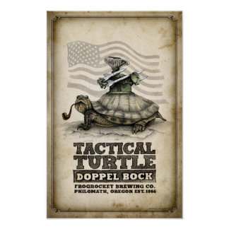 Tactical Turtle Doppel Bock Poster