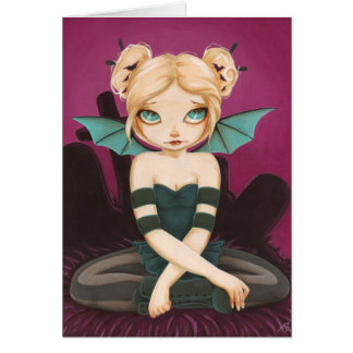 Tad Batty - bat fairy greeting card