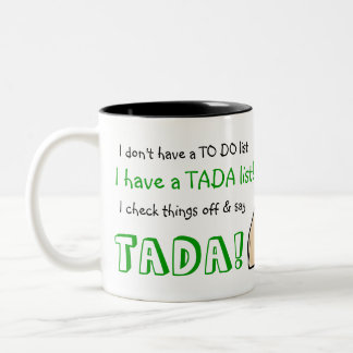 TADA List Two-Tone Coffee Mug