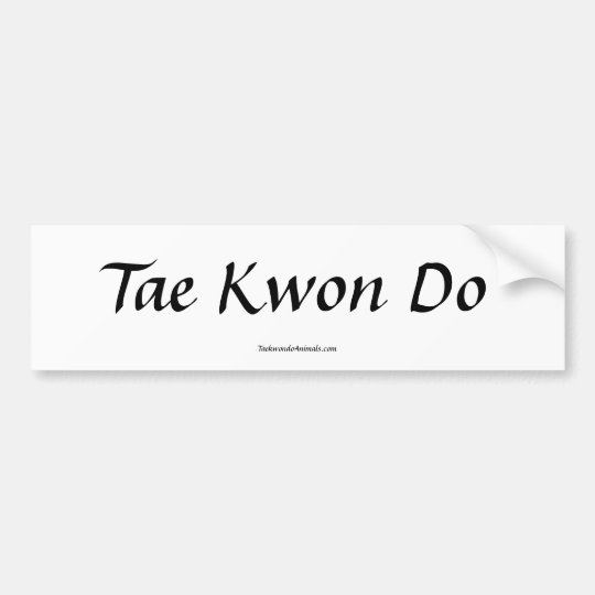 Tae Kwon Do Bumper Sticker