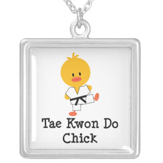 Tae Kwon Do Chick Sterling Silver Necklace