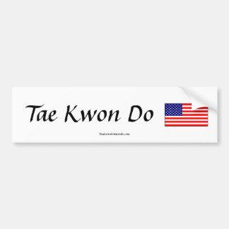 Tae Kwon Do Flag Sticker
