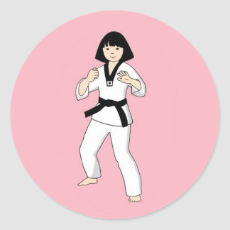 Tae Kwon Do Princess Stickers