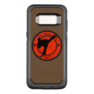 Tae Kwon Do	Silhouette of Tae Kwon Do fighter. OtterBox Commuter Samsung Galaxy S8 Case