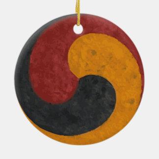 TaeGuk Ceramic Ornament