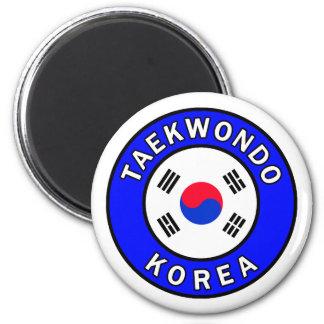 Taekwondo 2 Inch Round Magnet
