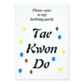 "Taekwondo Birthday Card 5"" X 7"" Invitation Card"