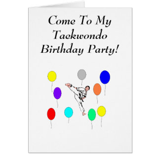 Taekwondo Birthday Party Card