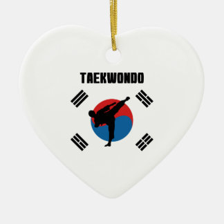 Taekwondo Ceramic Ornament
