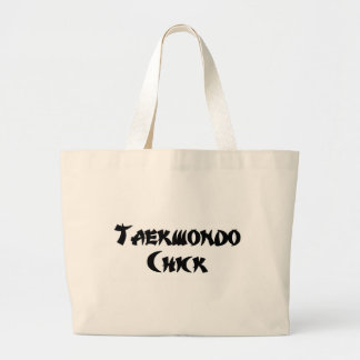 Taekwondo Chick Large Tote Bag