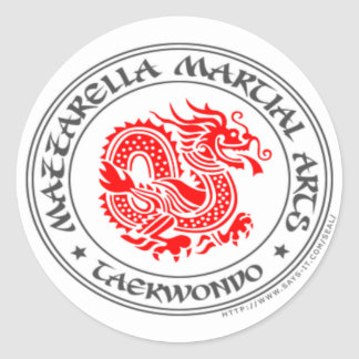 {Taekwondo Dragon} Round Sticker
