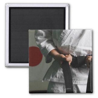 Taekwondo Fighter Tightening Belt Square Magnet