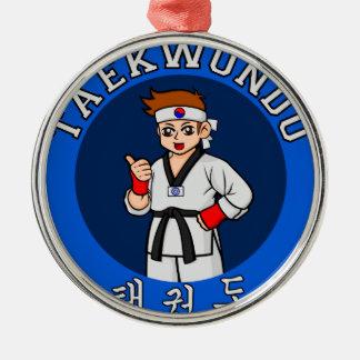 taekwondo guy badge metal ornament