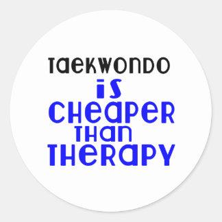 Taekwondo Is Cheaper  Than Therapy Classic Round Sticker
