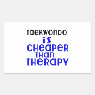 Taekwondo Is Cheaper  Than Therapy Sticker
